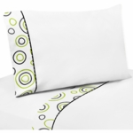 Sweet JoJo Designs Spirodot Lime & Black Twin Sheet Set
