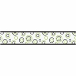 Sweet JoJo Designs Spirodot Lime & Black Wallpaper Border