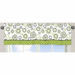Sweet JoJo Designs Spirodot Lime & Black Window Valance