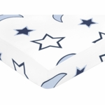 Sweet JoJo Designs Starry Night Crib Sheet - Stars & Moons