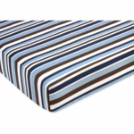 Sweet JoJo Designs Starry Night Crib Sheet - Stripe