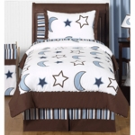 Sweet JoJo Designs Starry Night Twin Bedding Set