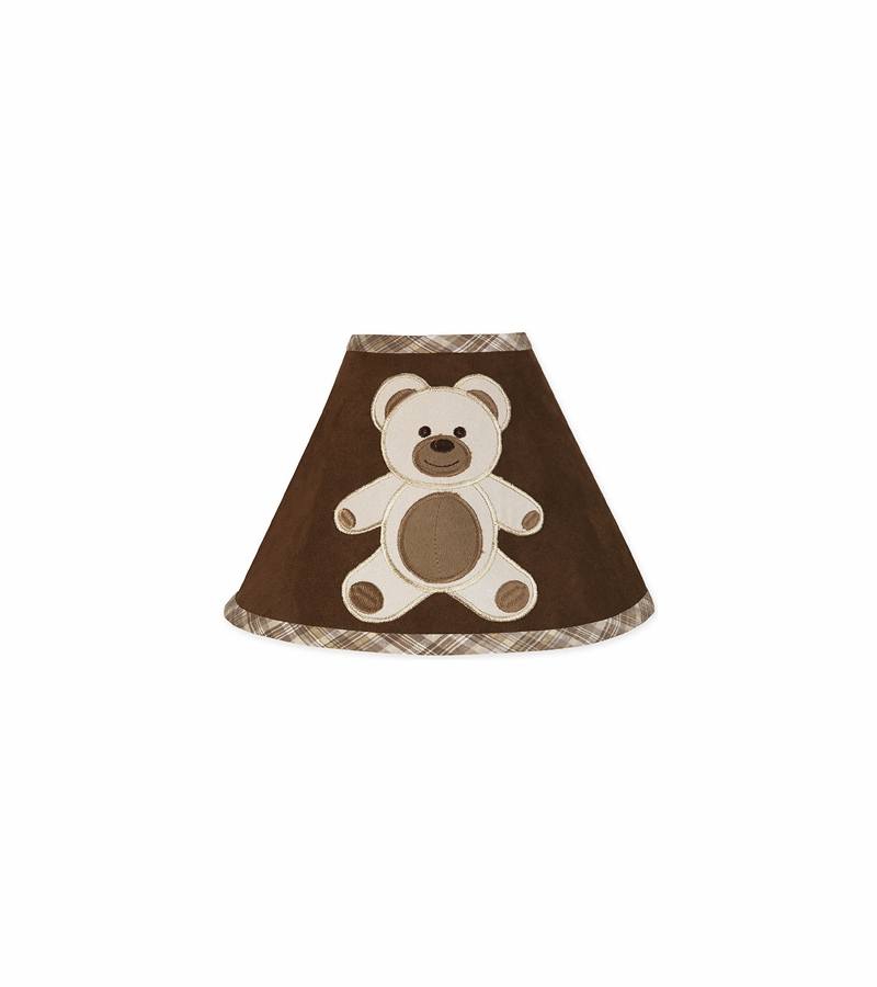 Sweet jojo designs teddy bear chocolate lamp shade mozeypictures Images