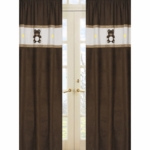 Sweet JoJo Designs Teddy Bear Chocolate Window Panels - Set of 2