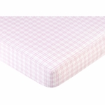 Sweet JoJo Designs Teddy Bear Pink Crib Sheet - Pink Plaid