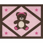 Sweet JoJo Designs Teddy Bear Pink Floor Rug