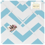 Sweet JoJo Designs Turquoise & White Chevron Fabric Memo Board