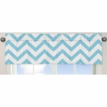 Sweet JoJo Designs Turquoise & White Chevron Window Valance