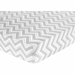 Sweet JoJo Designs Zig Zag Black & Grey Chevron Crib Sheet - Zig Zag