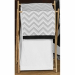 Sweet JoJo Designs Zig Zag Black & Grey Chevron Hamper