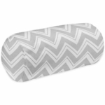 Sweet JoJo Designs Zig Zag Black & Grey Chevron Neckroll Pillow