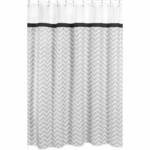 Sweet JoJo Designs Zig Zag Black & Grey Chevron Shower Curtain