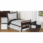 Sweet JoJo Designs Zig Zag Black & Grey Chevron Toddler Bedding Set