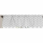 Sweet JoJo Designs Zig Zag Black & Grey Chevron Window Valance