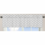 Sweet JoJo Designs Zig Zag Pink & Grey Chevron Window Valance