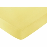 Sweet JoJo Designs Zig Zag Yellow & Grey Chevron Crib Sheet in Yellow