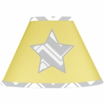 Sweet JoJo Designs Zig Zag Yellow & Grey Chevron Lamp Shade