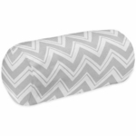 Sweet JoJo Designs Zig Zag Yellow & Grey Chevron Neckroll Pillow