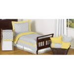 Sweet JoJo Designs Zig Zag Yellow & Grey Chevron Toddler Bedding Set