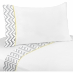 Sweet JoJo Designs Zig Zag Yellow & Grey Chevron Twin Sheet Set