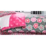 Sweet Potato Addison Twin Duvet Cover - Reversible Floral/Dot