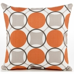 Sweet Potato Echo Throw Pillow - Circle Print