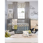 Sweet Potato Uptown Traffic 3 Piece Crib Bedding Set