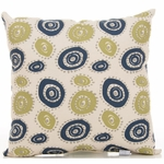 Sweet Potato Uptown Traffic Pillow - Circles