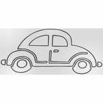 Sweet Potato Uptown Traffic Wall Decal - Car