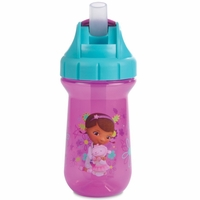 The First Years 10 oz Flip Top Straw Cup - Doc McStuffins