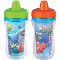 The First Years 9oz Insulated Sippy Cups, 2 PK - Finding Nemo
