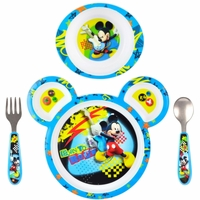 The First Years Disney Mickey Mouse 4-Piece Feeding Set