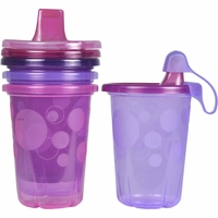 The First Years Take & Toss 10 oz. Spill-Proof Sippy Cups (4ct) - Pink/Purple