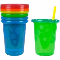 The First Years Take & Toss 10 oz. Spill-Proof Straw Cup (4ct) - Multicolor