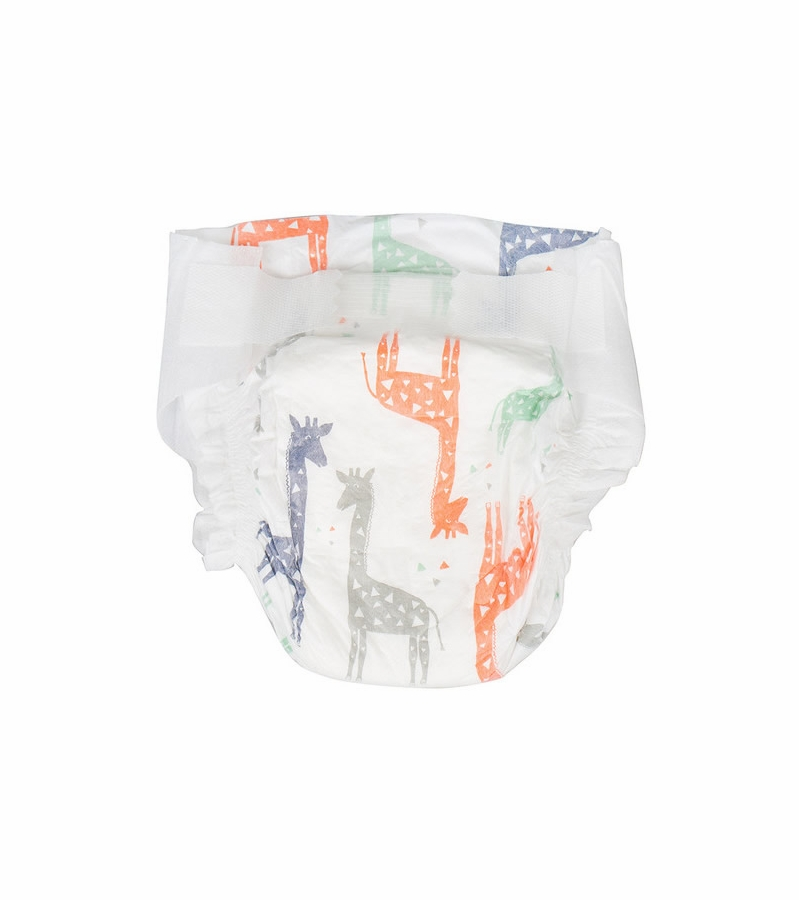 the honest company diaper pack in multi-colored giraffes
