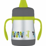 Thermos Foogo Leak-Proof Stainless Steel Soft Spout Sippy Cup - 7 Ounce - Tripoli