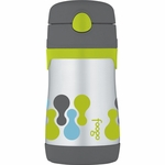 Thermos Foogo Leak-Proof Stainless Steel Straw Bottle - 10 Ounce - Tripoli