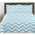 Turquoise & White Chevron Collection