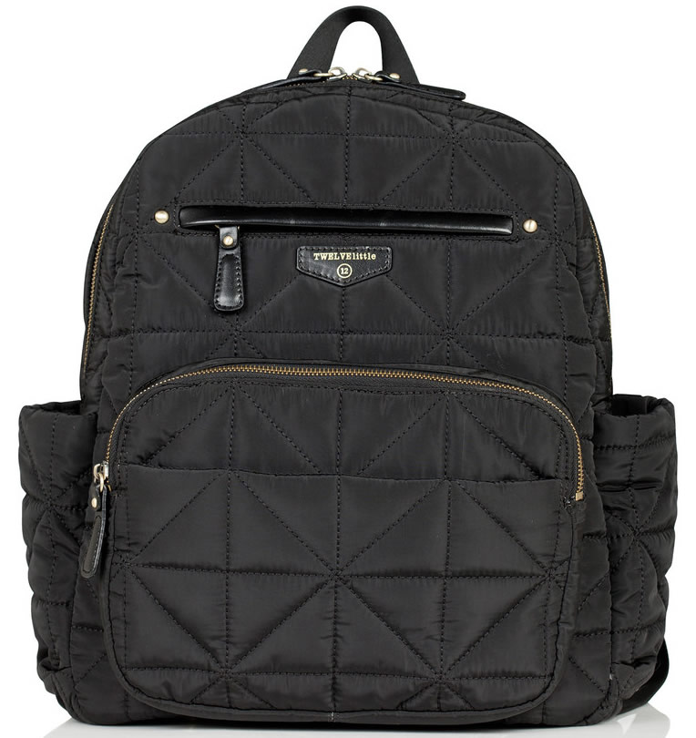 TWELVElittle Companion Backpack Diaper Bag - Black