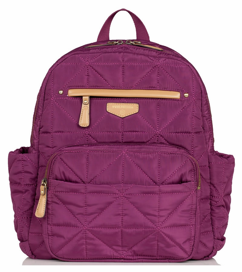 twelvelittle companion backpack diaper bag plum. Black Bedroom Furniture Sets. Home Design Ideas