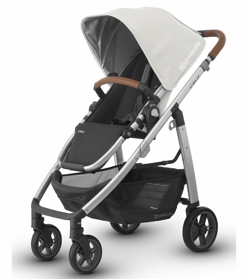 uppababy 2017 2018 cruz stroller loic white silver leather. Black Bedroom Furniture Sets. Home Design Ideas