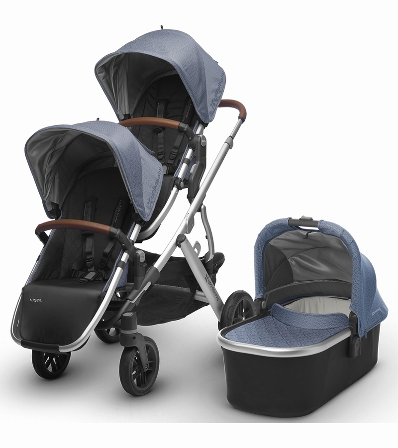 Uppababy 2017 Vista Double Stroller Henry Blue Marl
