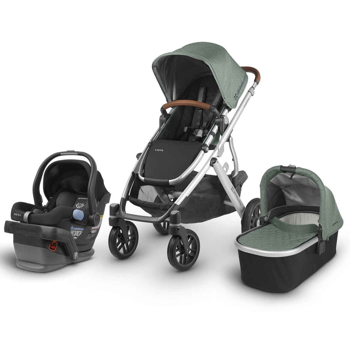 Uppababy 2018 Vista Mesa Travel System Emmett Green