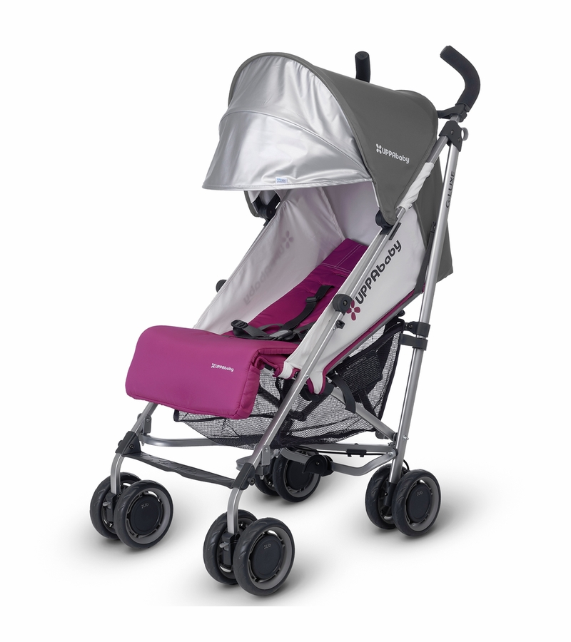 uppababy 2017 g luxe stroller makena purple silver discontinued fashion. Black Bedroom Furniture Sets. Home Design Ideas