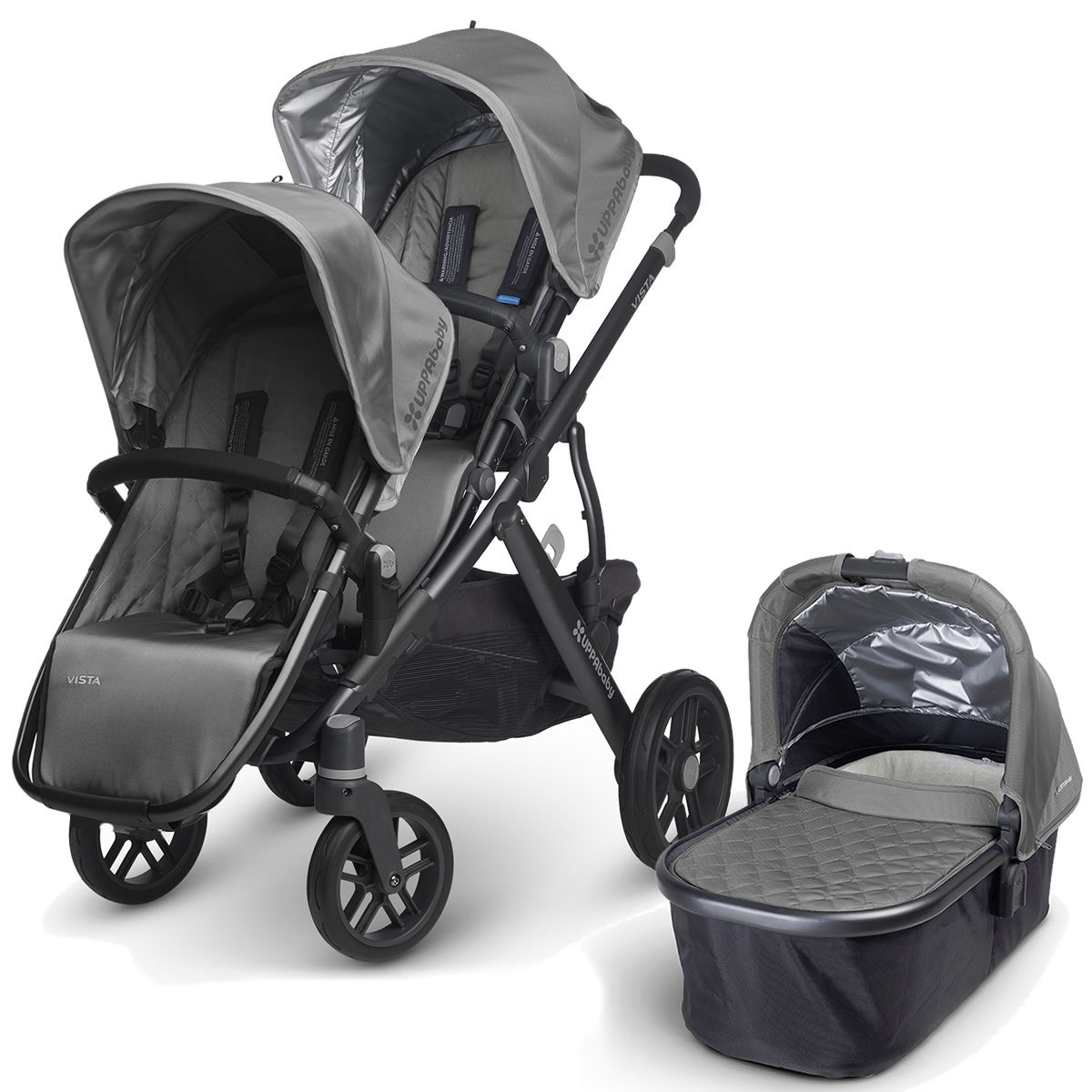 Uppa Baby 2016 VISTA Stroller & 2017 RumbleSeat - Pascal