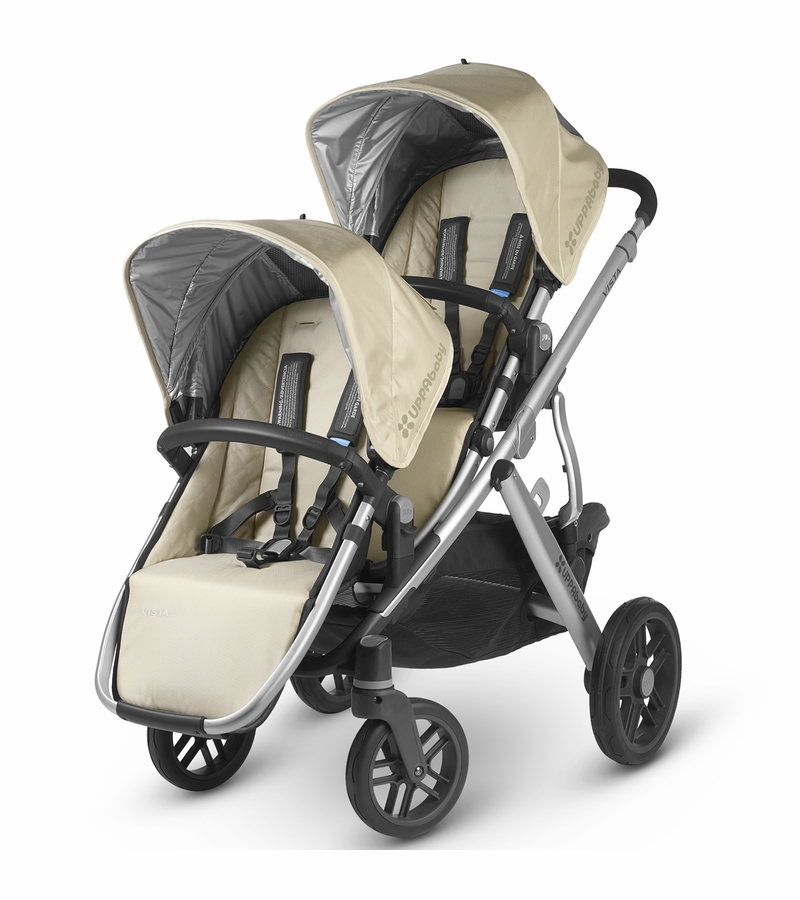 uppababy vista 2015 rumbleseat lindsey wheat silver. Black Bedroom Furniture Sets. Home Design Ideas