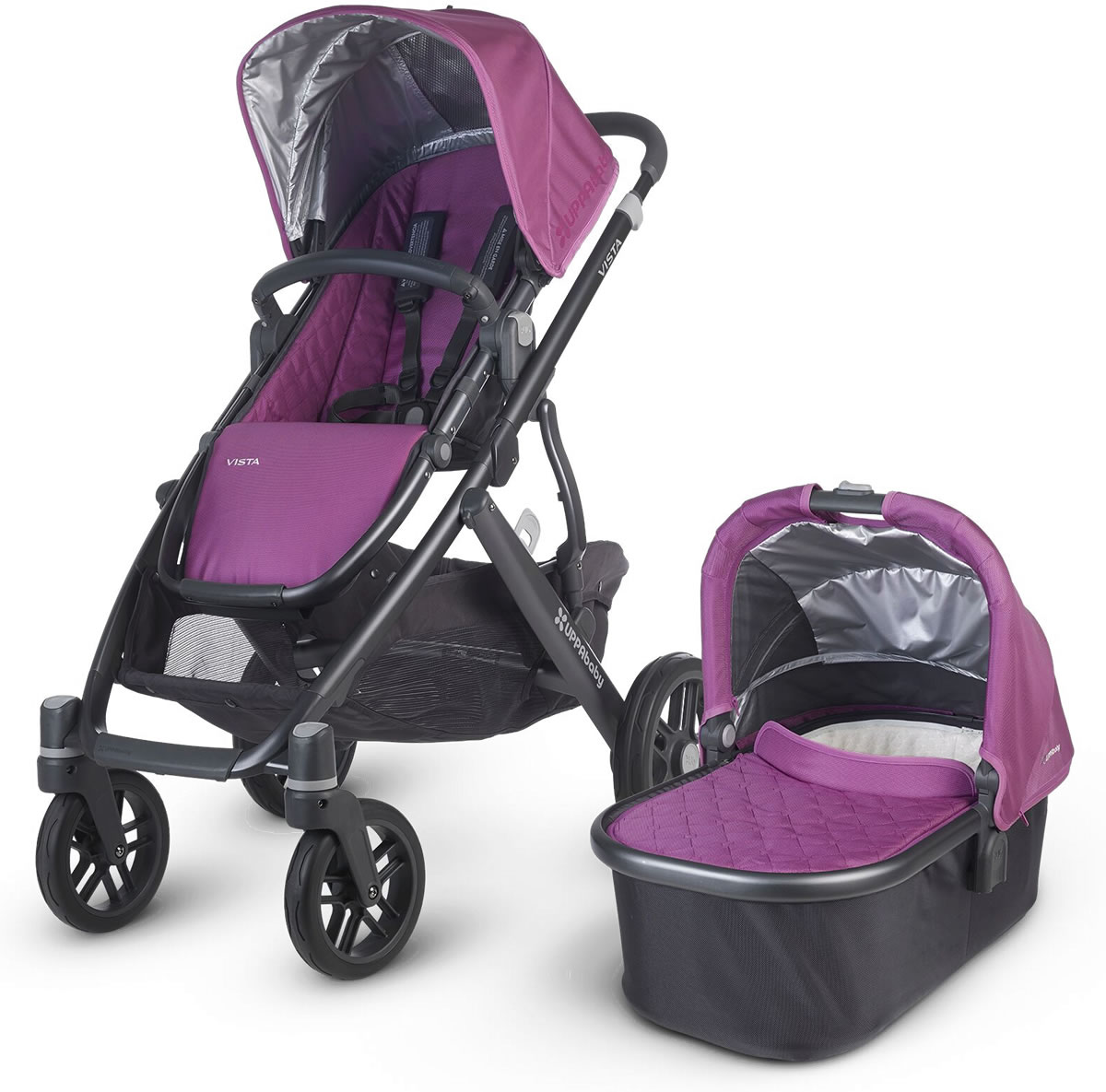 Uppa Baby 2015/2016 VISTA Stroller - Samantha (Purple/Black)