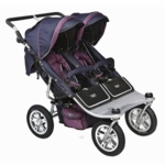 Valco Runabout Tri Mode Twin Stoller in Plum