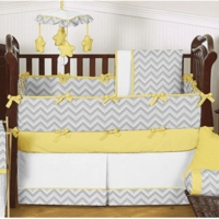 Zig Zag Yellow & Grey Chevron Collection
