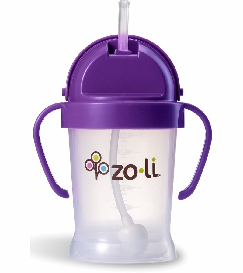 straw sippy cups zoli bot 6 oz straw sippy cup purple 30700
